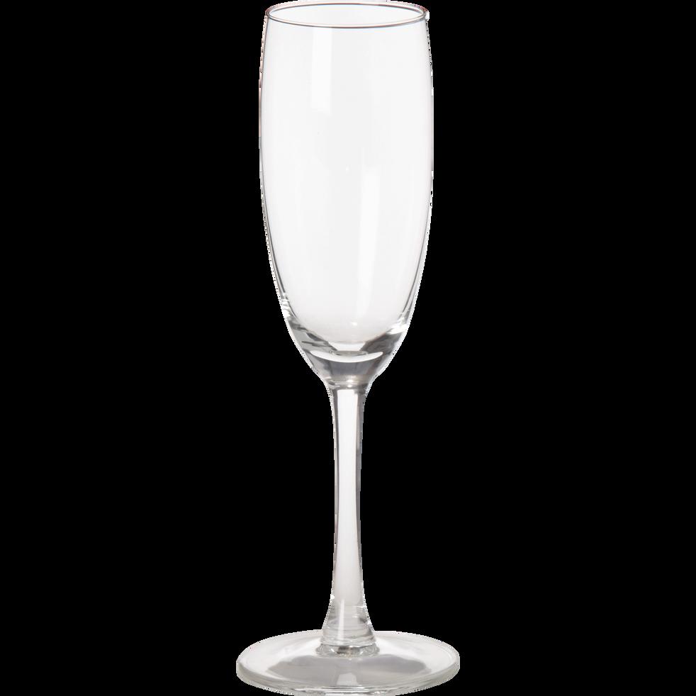 Flûte à champagne en verre 18cl-Open