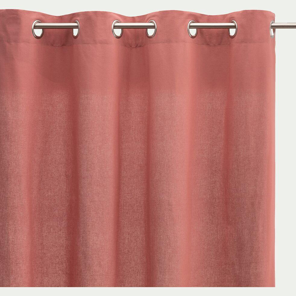 Rideau à œillets en coton - rouge ricin 140x250cm-CALANQUES