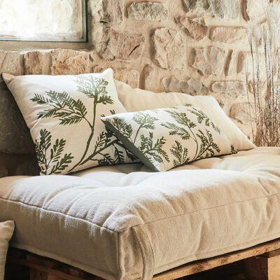 Coussin en tissu avec motifs - vert 30x50cm-MACHJALIO