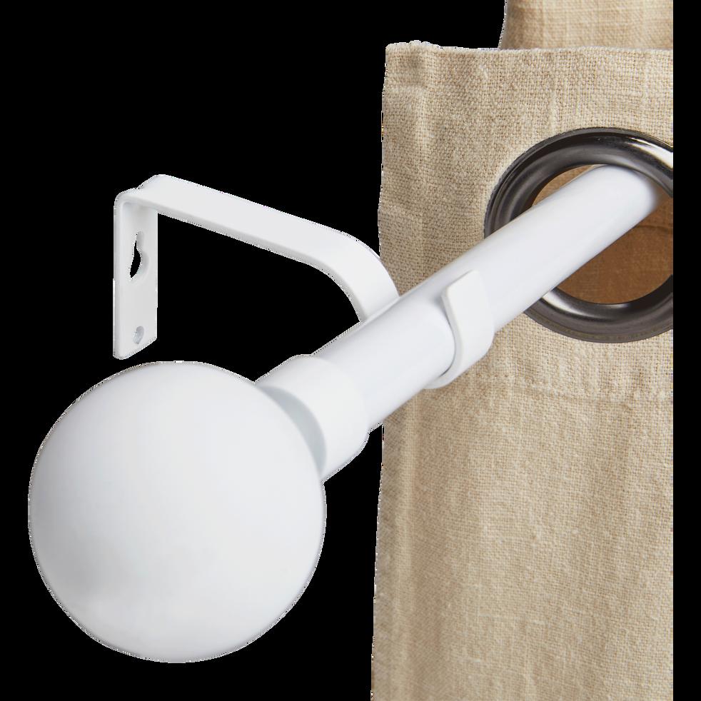 Tringle extensible blanc mat 210 à 380cm-SPHERE