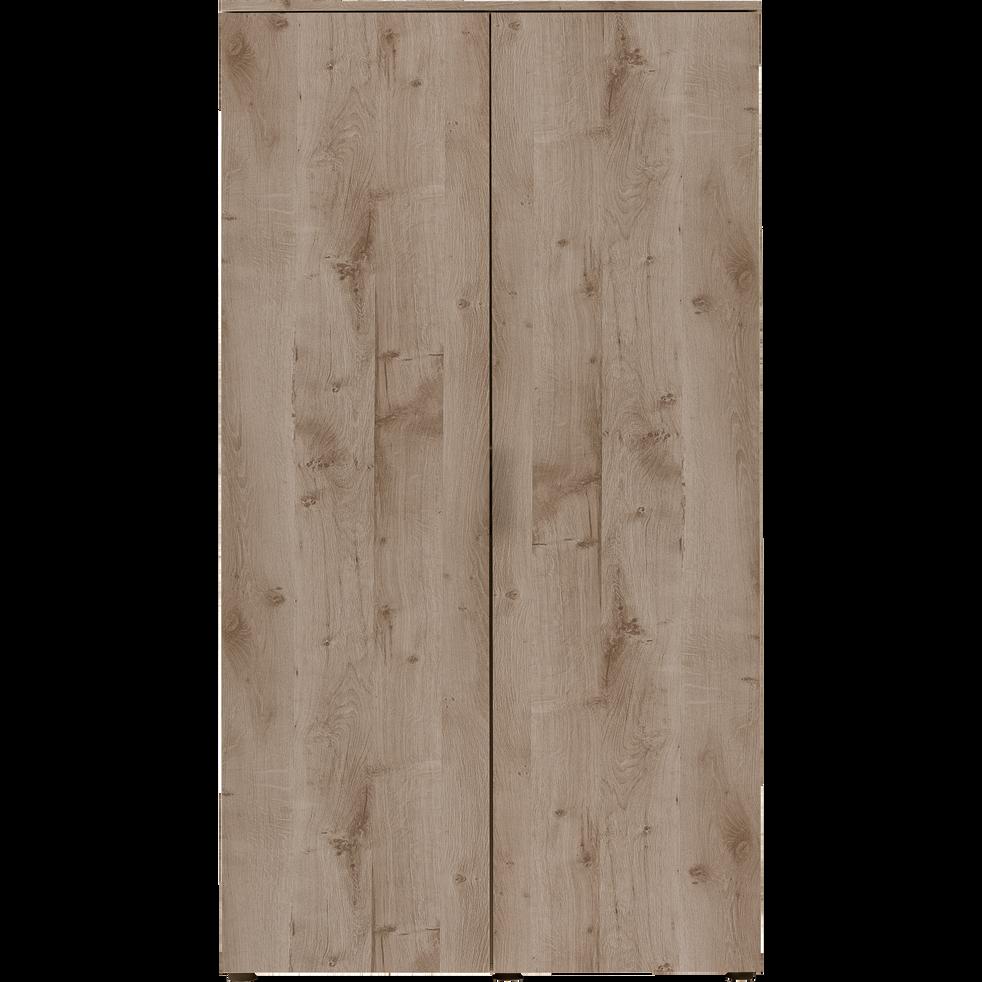 Armoire 2 portes battantes chêne cendré-BROOKLYN