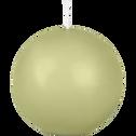 Bougie ronde vert garrigue D10cm-HALBA