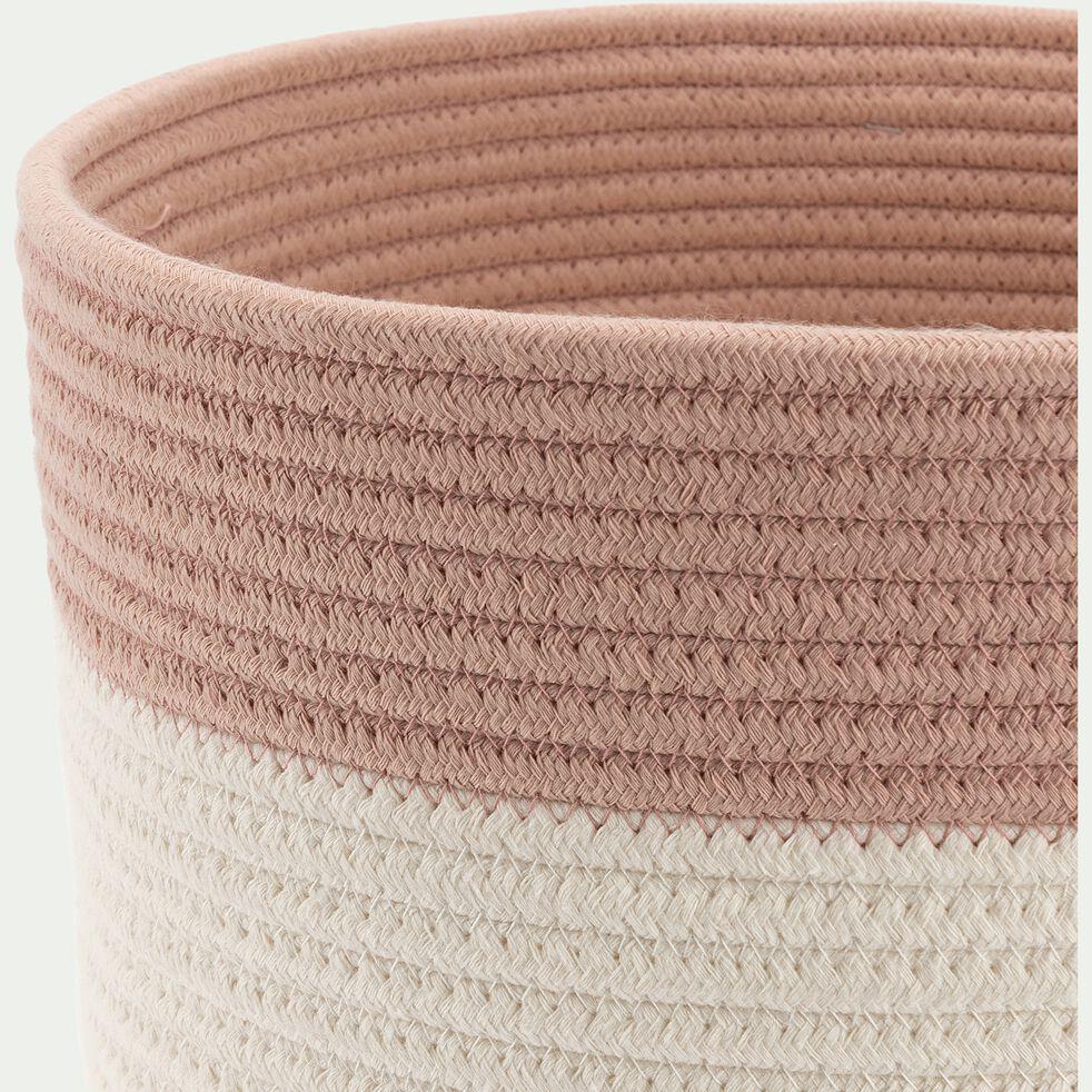 Panier de rangement bicolore - rose D30xH30cm-Louni