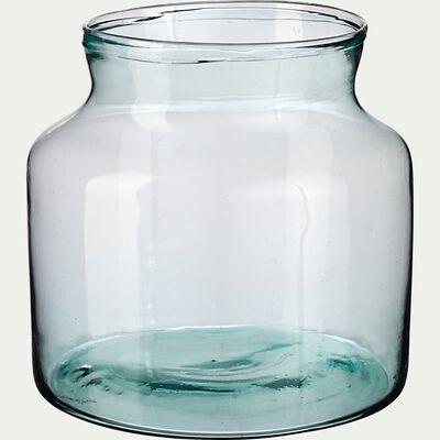 Vase en verre recyclé - transparent H20cm-ABLETTE