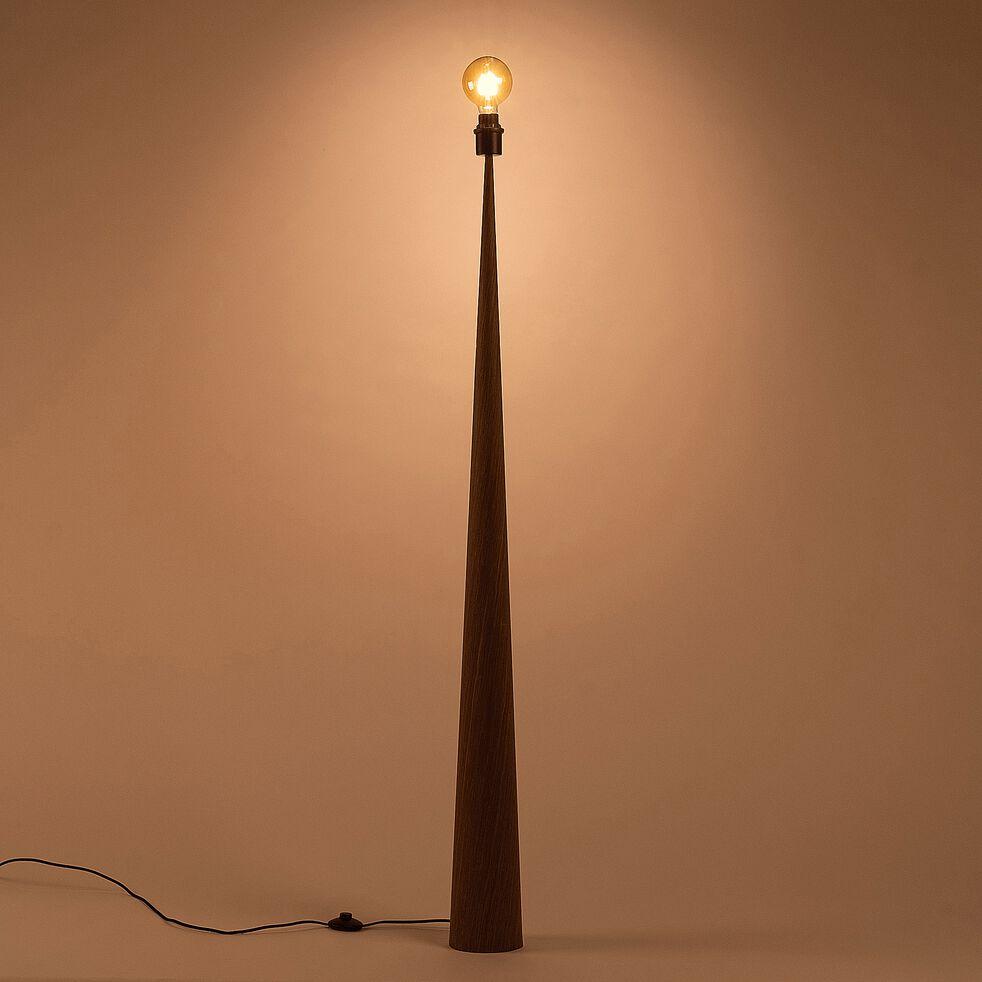 Lampadaire en bois - chêne foncé H157cm-KONE
