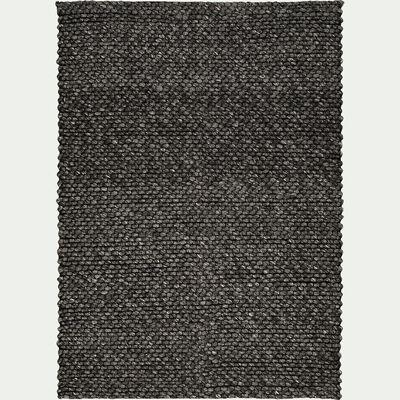 Tapis en laine et coton - gris foncé 160x230cm-MAUSSANE