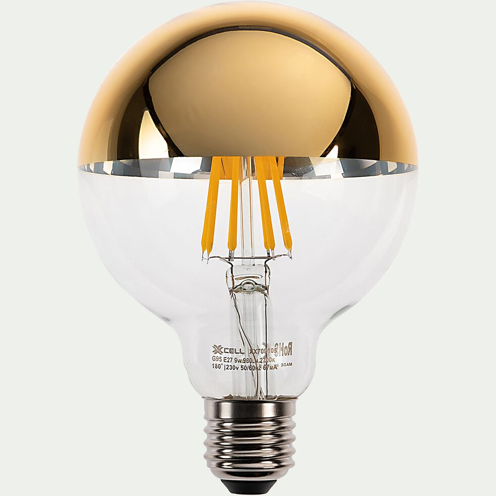 Ampoule LED déco à filament globe lumière chaude 9W - doré D9,5cm-GLOBE