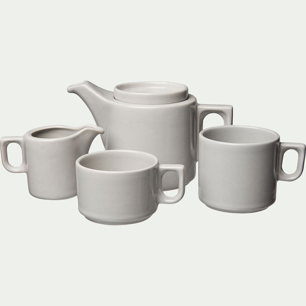 Tasse à café en faïence gris borie 18cl-VADIM