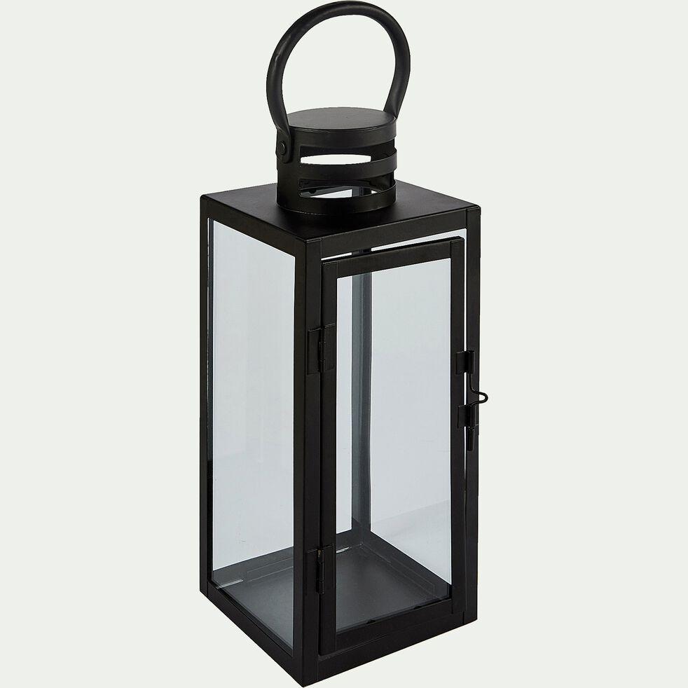 Lanterne en métal - noir L12xl12xH31cm-MARCELLA