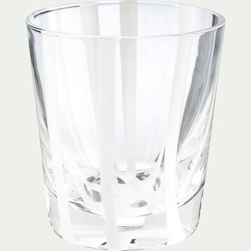 Verre à eau - blanc D8xH9cm-MADERE