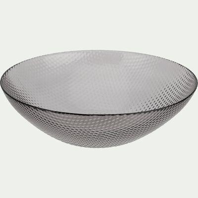 Saladier en verre noir D29,5cm-ARZ