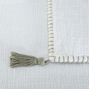Plaid coton 100x150 cm - Blanc Ventoux-AZALEE