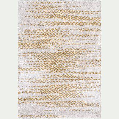 Tapis à motif effet élimé - jaune 160x230cm-Malone