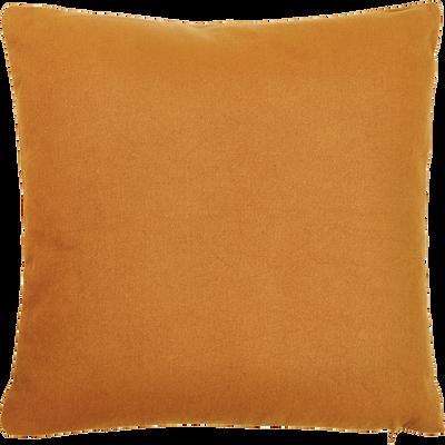 Coussin en coton ocre 40x40cm-CALANQUES