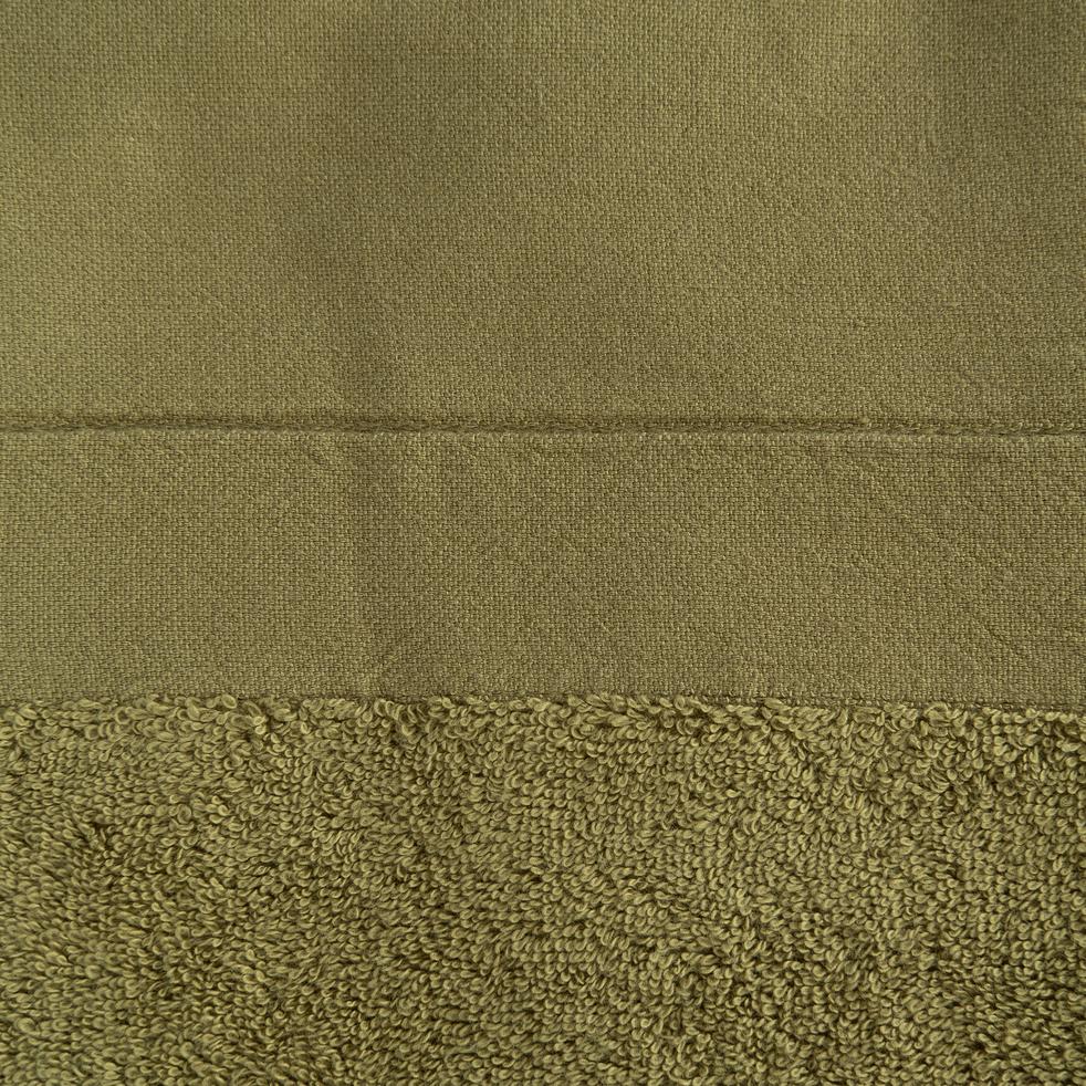 Drap de bain 100x150cm en coton kaki-MINH