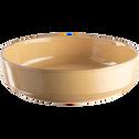 Saladier en faïence beige nèfle D24cm-LANKA