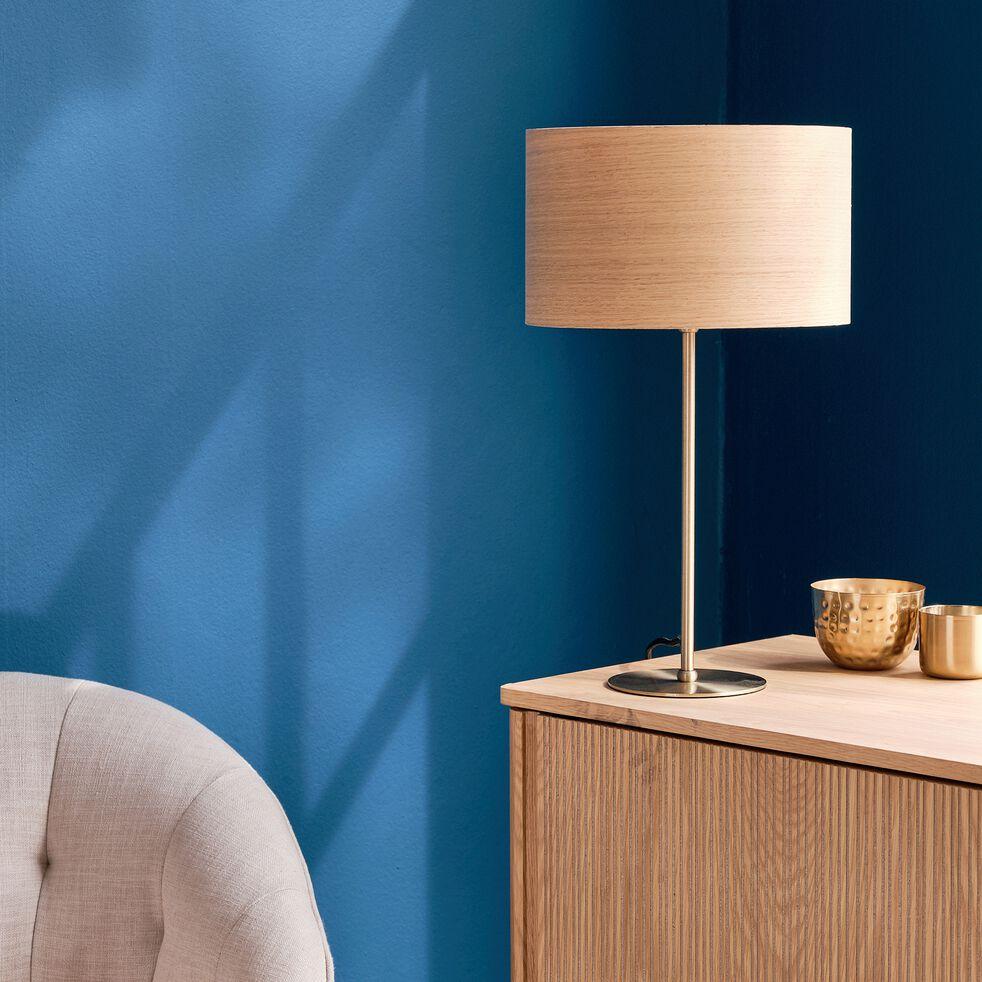 Lampe en métal et chêne - naturel-ROSARIO
