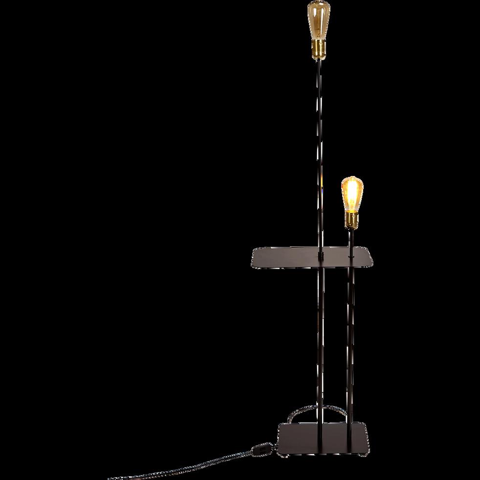 Lampadaire en métal noir H135cm-LECTO