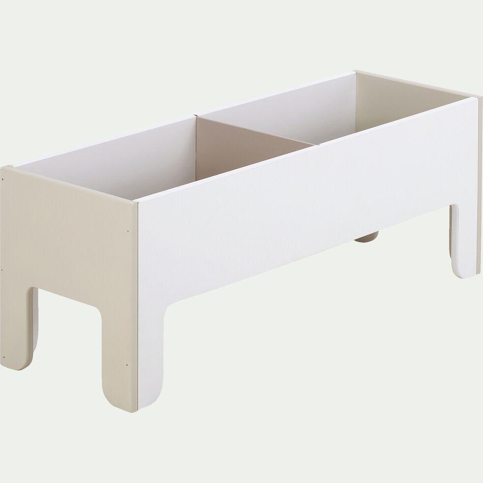 Coffre à jouets sans visserie 2 cases - beige roucas-MINOT