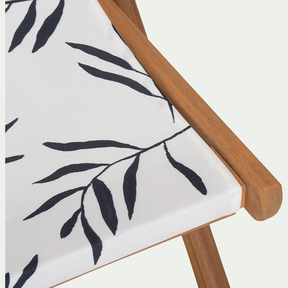 Chilienne de jardin déhoussable à motif Aloyse - blanc-UDINE