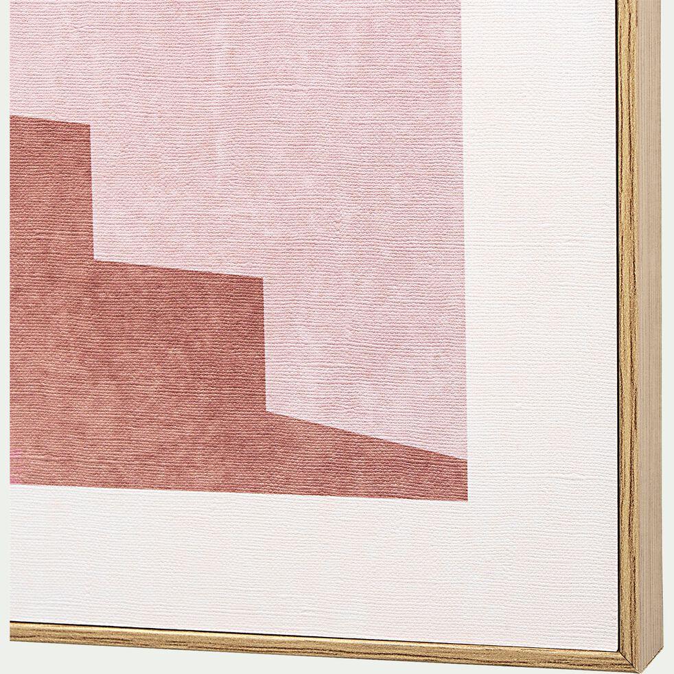 Image encadrée maison méditerranéenne 50x70cm - rose-PATRAS