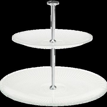 Serviteur en verre transparent H30cm-VESLY