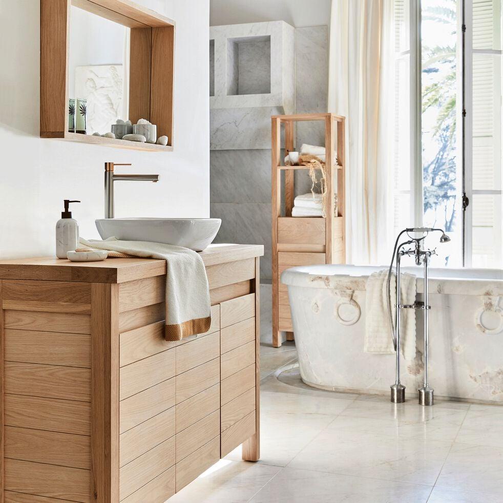 Colonne de salle de bain en chêne 170cm-Native