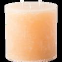 Bougie lanterne coloris beige estérel D15xH15cm-BEJAIA
