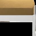 Drap housse en coton lavé beige nèfle 90x140 cm-CALANQUES
