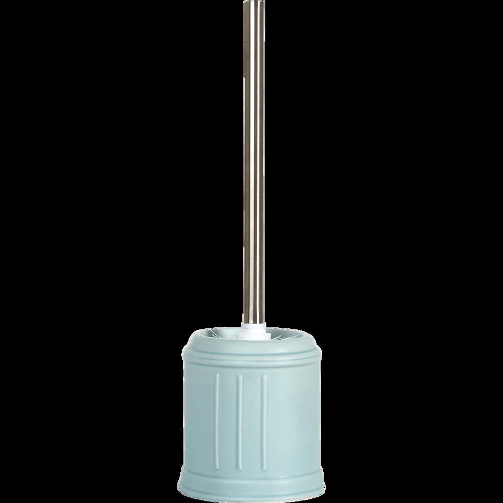 Balai et porte-balai WC en céramique pastel-MECA