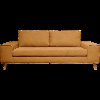 Canapé 3 places fixe en tissu jaune-PICABIA