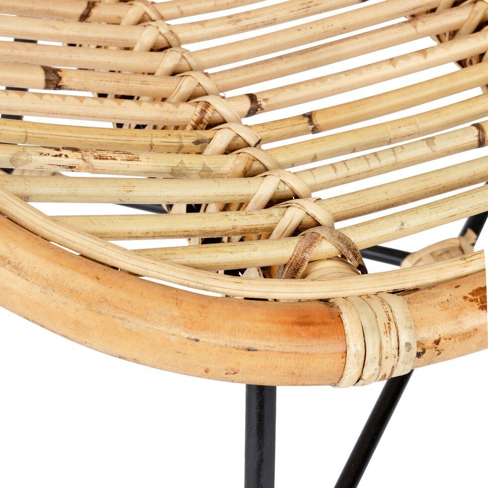 isra chaise en rotin sans accoudoirs naturel