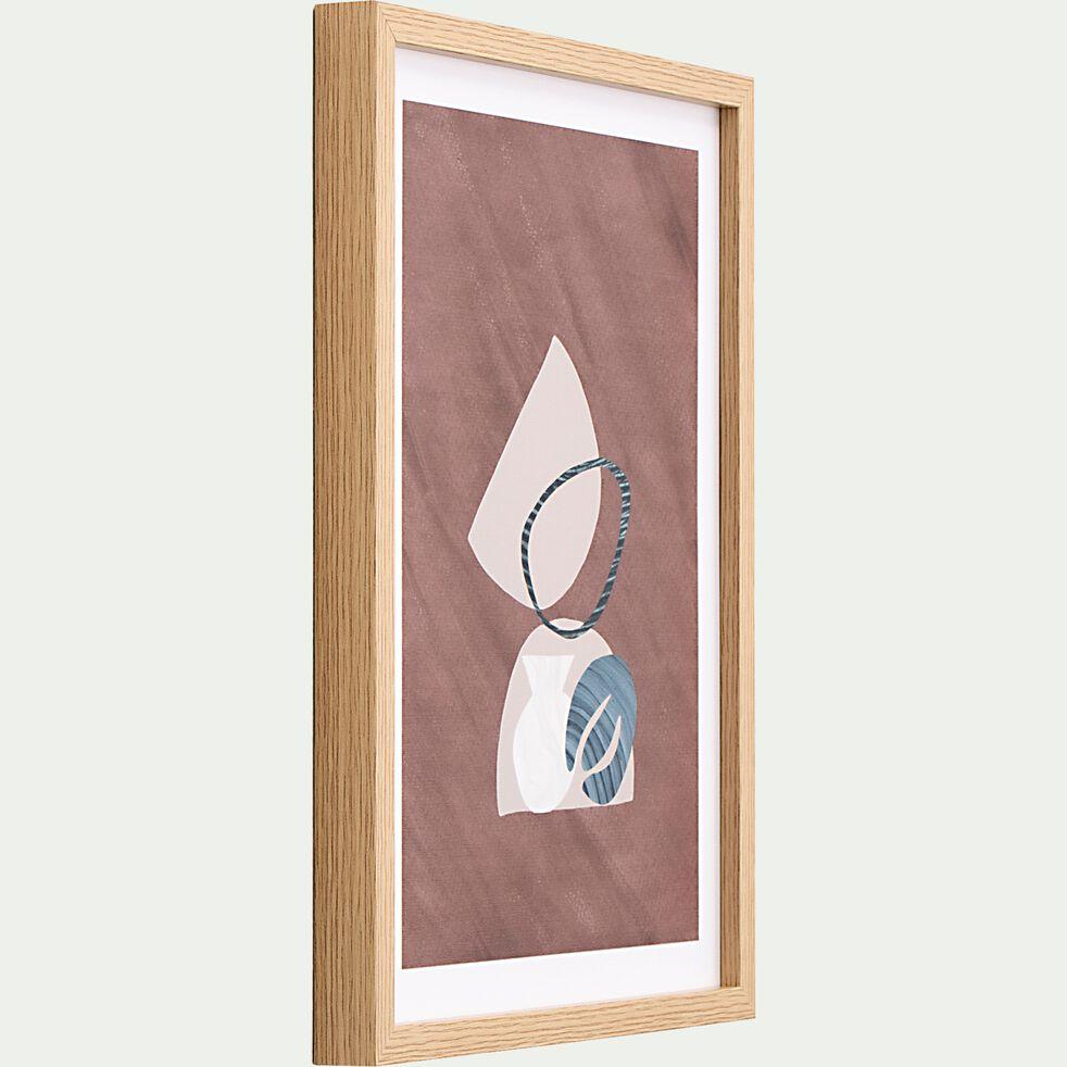 Image encadrée motifs géométriques 33x43cm-ALBORANA