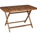 Table de jardin pliante en acacia huilé (2 à 4 places)-YOUK