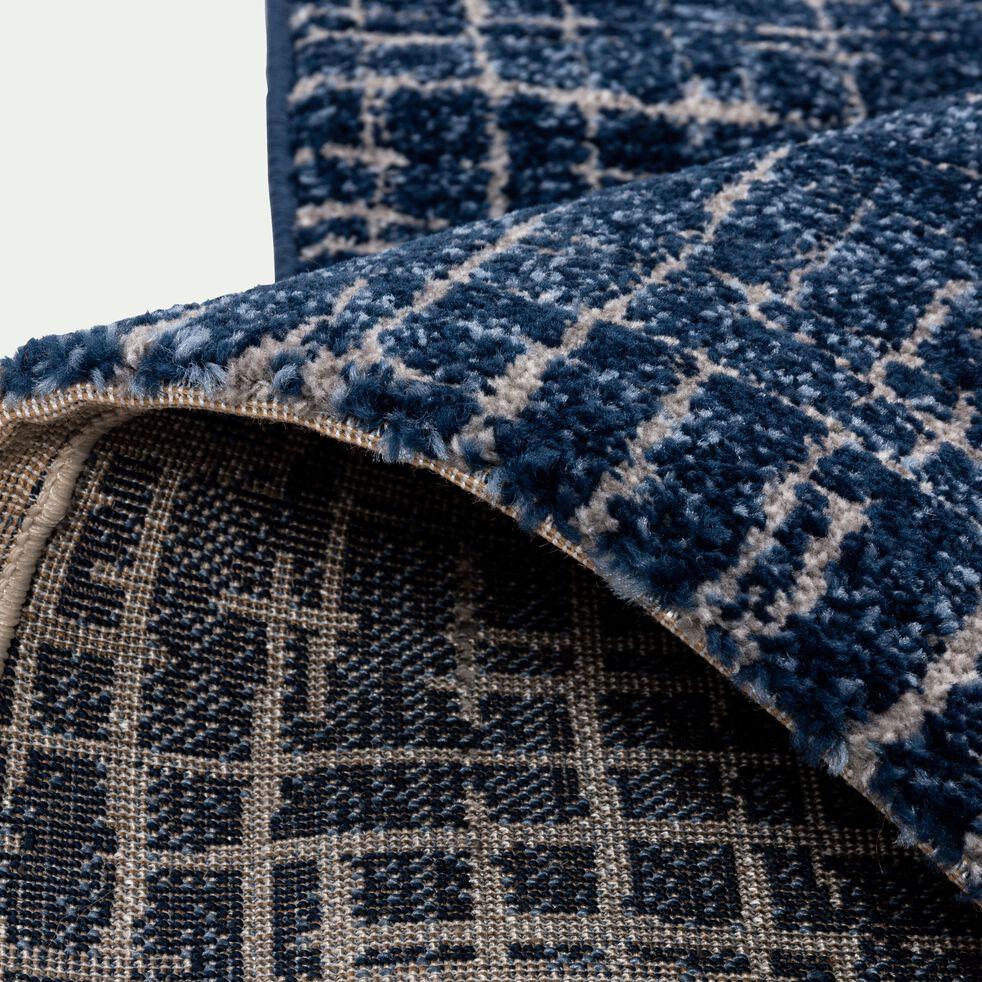 Tapis à motifs - bleu 120x170cm-BAPTISTE