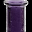 Vase en verre recyclé violet H60cm-KYARA
