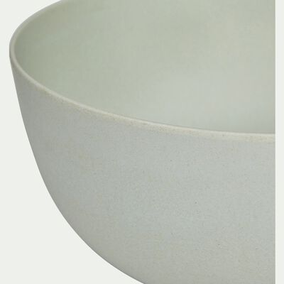Saladier en matières végétales - vert olivier D23cm-HINX