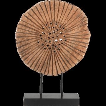 Objet décoratif en bois H46cm-HAO