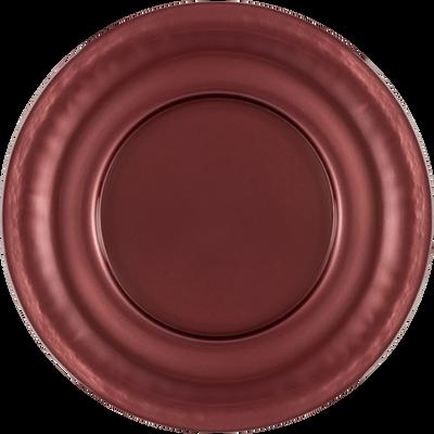 Assiette de présentation en verre rouge D32cm-LISA