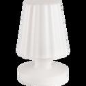 Lampe à poser nomade blanc h21cm-MINI LADY