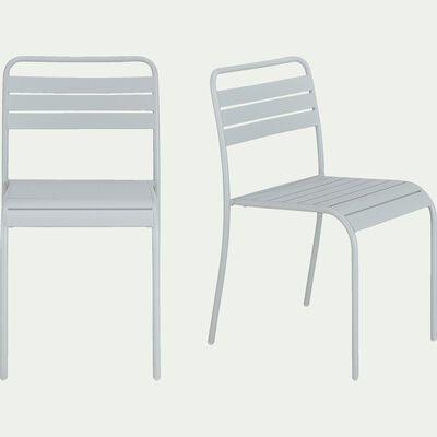 Chaise de jardin empilable en acier - gris vesuve-Souris