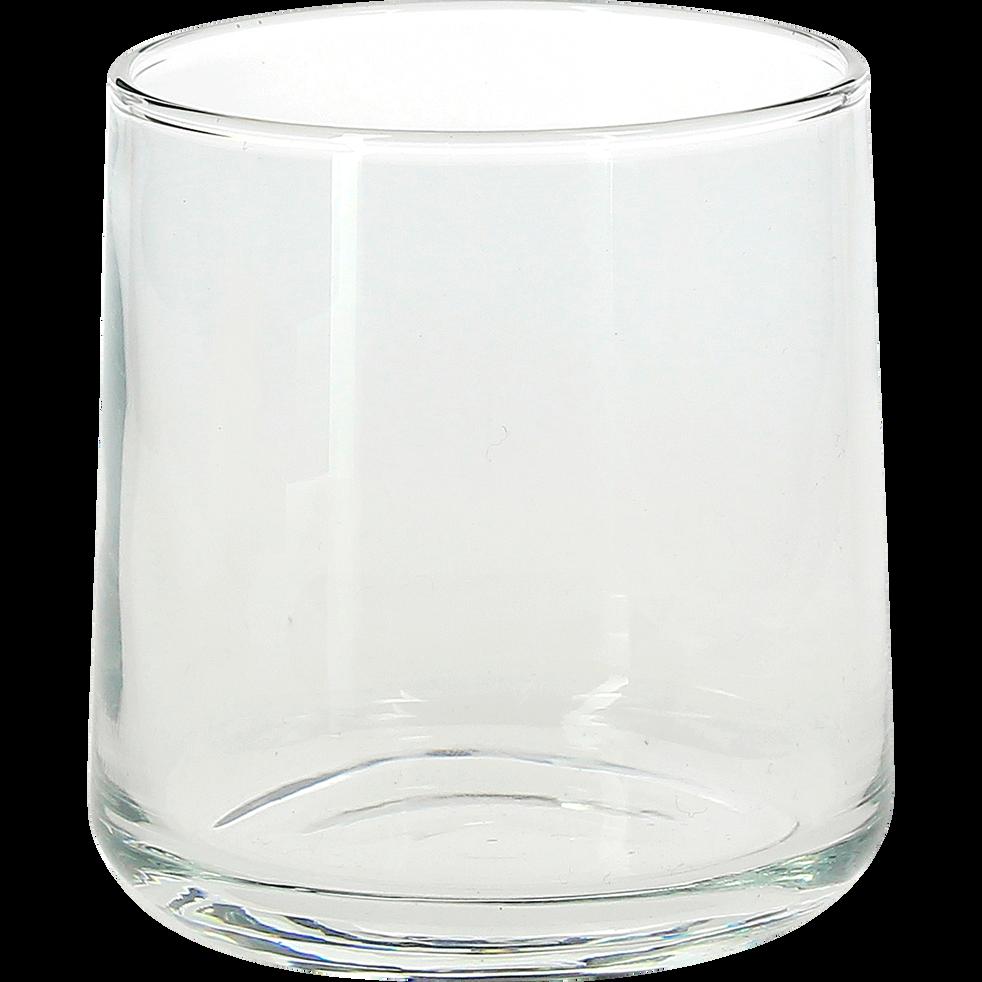 Verre à eau transparent 26cl-H2O