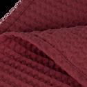 Jeté de lit en coton gaufré rouge sumac 180x230cm-GOYA