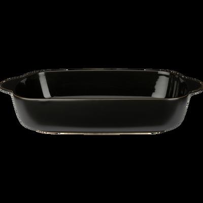 Plat à four rectangulaire en grès noir L34cm-MIOU