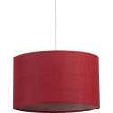 Suspension cylindrique en tissu rouge arbouse D60cm-MISTRAL