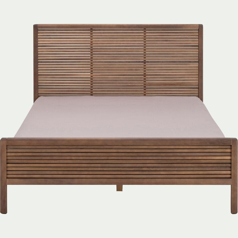 Lit 2 places avec tête de lit 160x200 cm-CRUZ