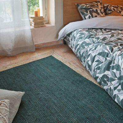 Tapis en jute - vert cèdre 160x230cm-NAÏA