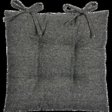 Galette de chaise piquée en polyester gris 40x40cm-CORBIN