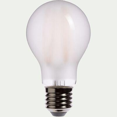 Ampoule LED verre dépoli blanc chaud D6cm culot E27-CLASSIQUE
