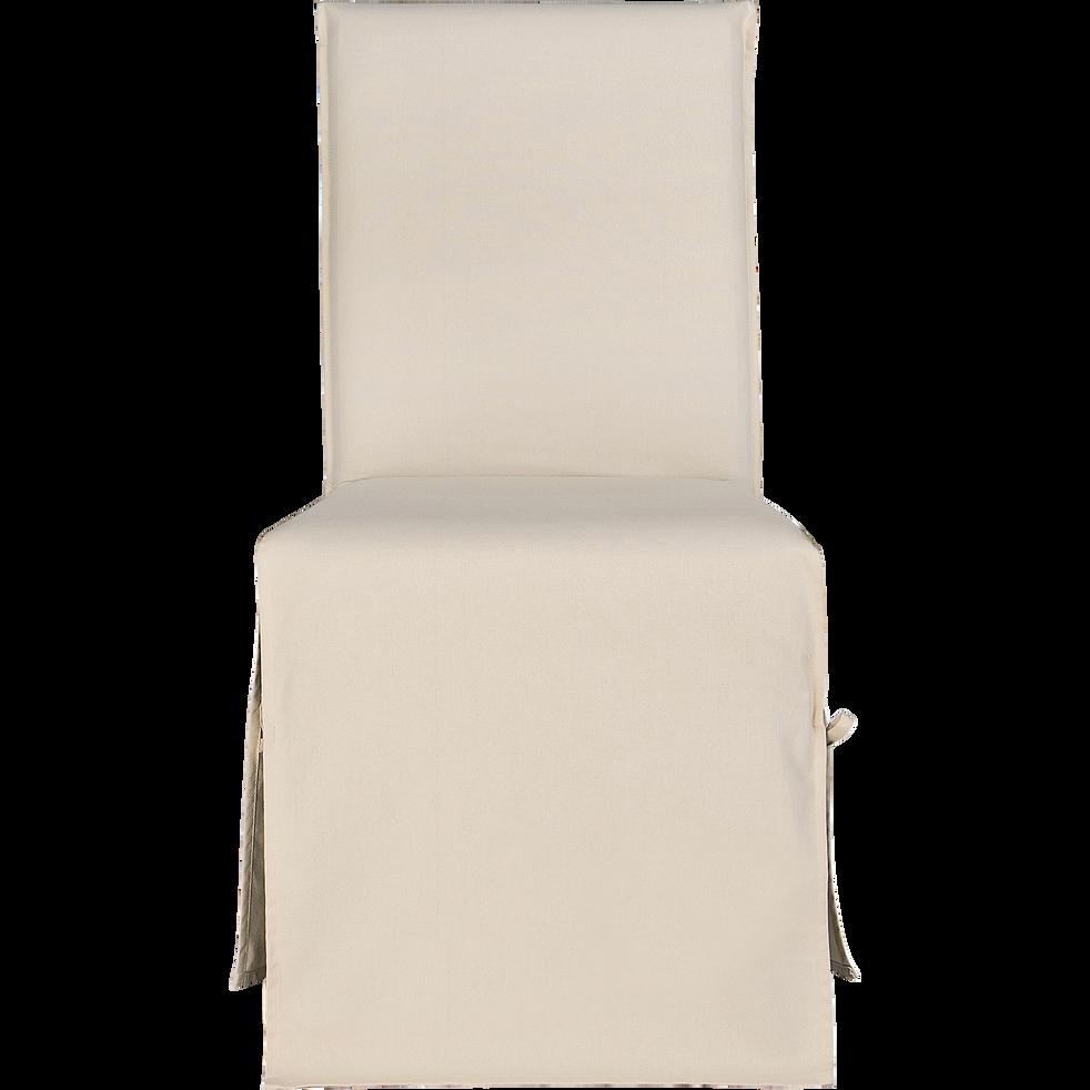 housse de chaise en coton beige roucas lily catalogue. Black Bedroom Furniture Sets. Home Design Ideas